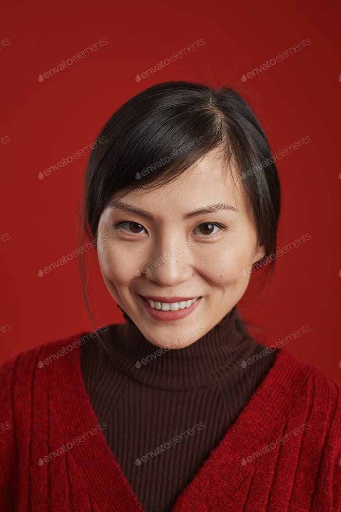 Chinese Woman Smiling Portrait