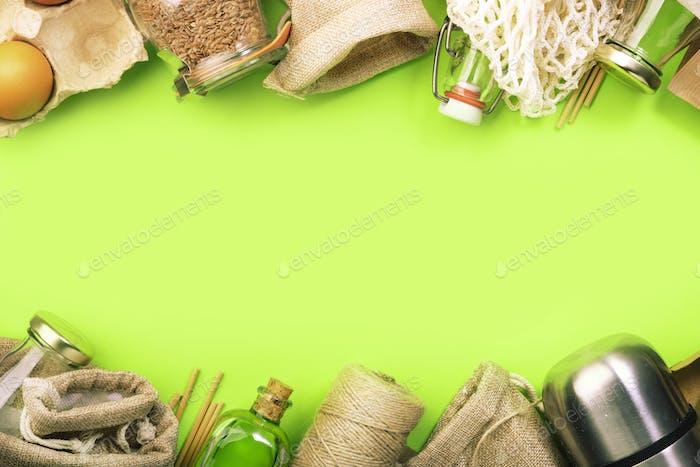 Zero waste, plastic free and sustainable lifestyle concept