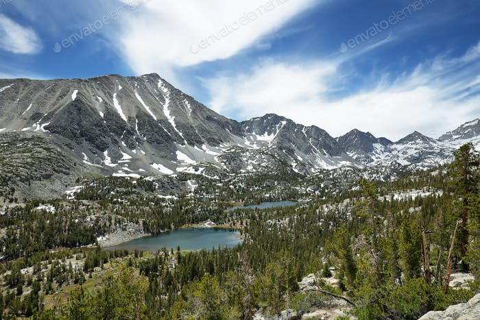 Rewarding views of Little valley lakes