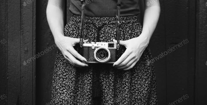 Woman journalist shoot