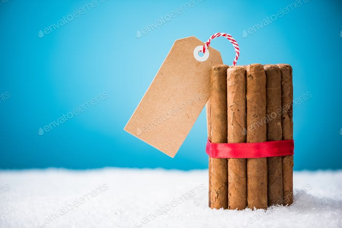 Cuban Cigars retails shop Christams festive template