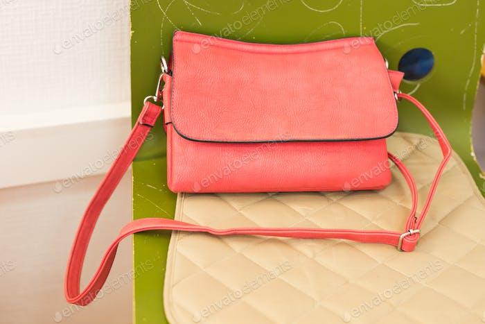 Pink women handbag