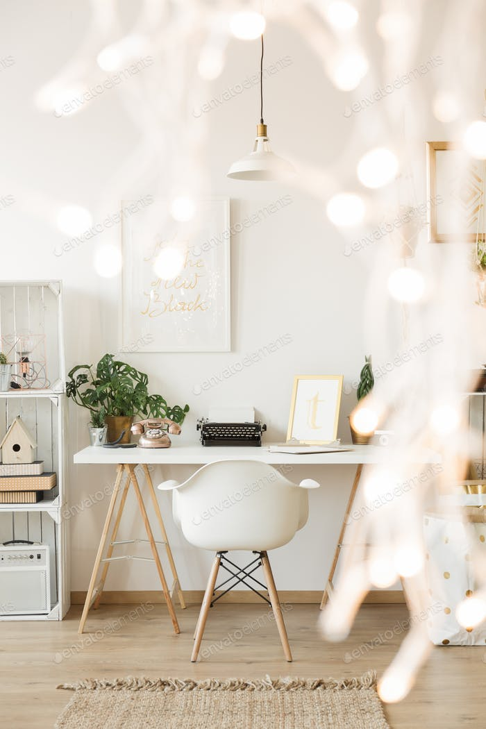 Creative white desk