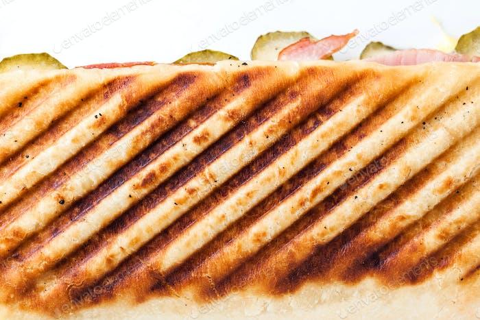 Frisches Sandwich von oben