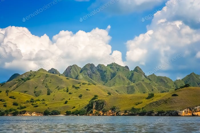 Stunning landscape of Komodo Island