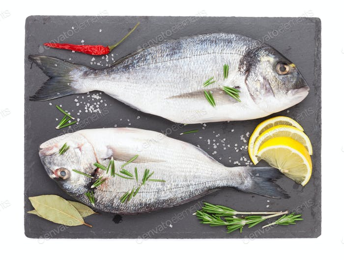 Frischer Dorado-Fisch mit Gewürzen