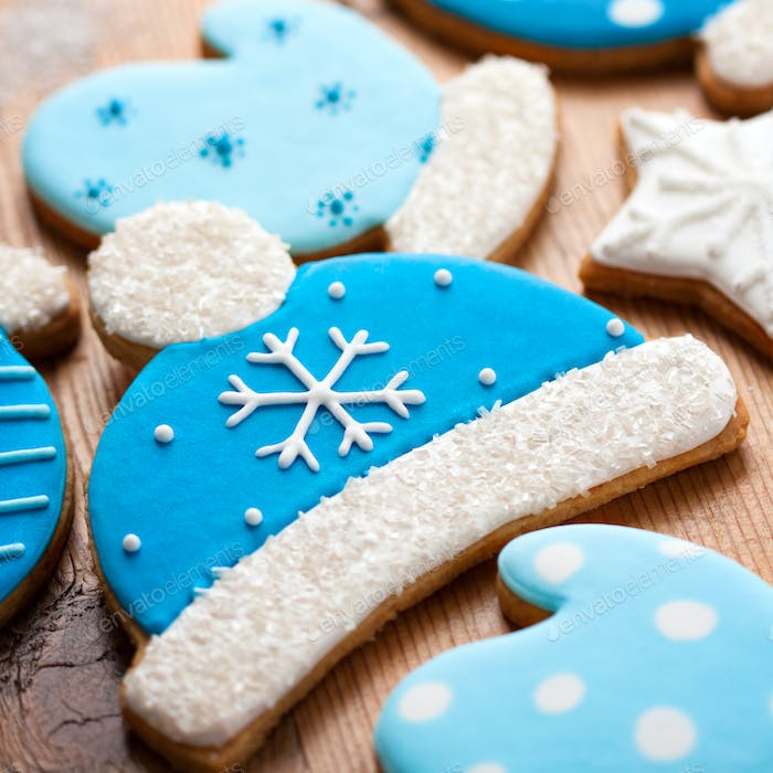 Bobble hat cookies