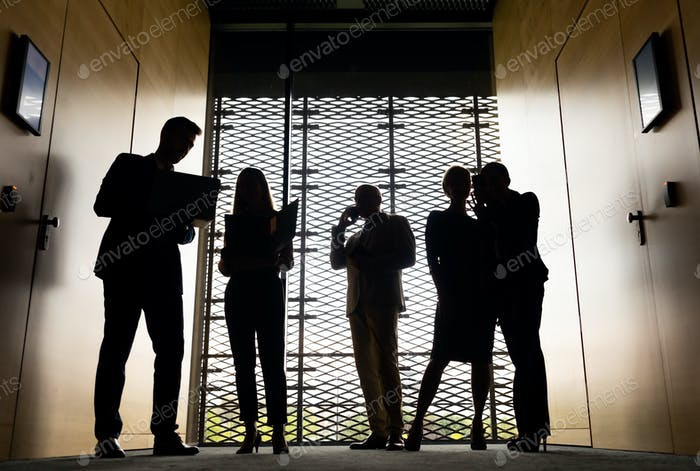 Group of Business People in modern office interior
