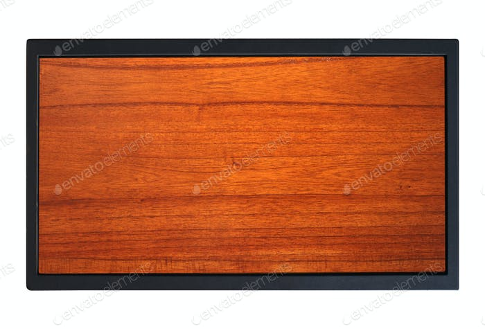 Wood with metal frame