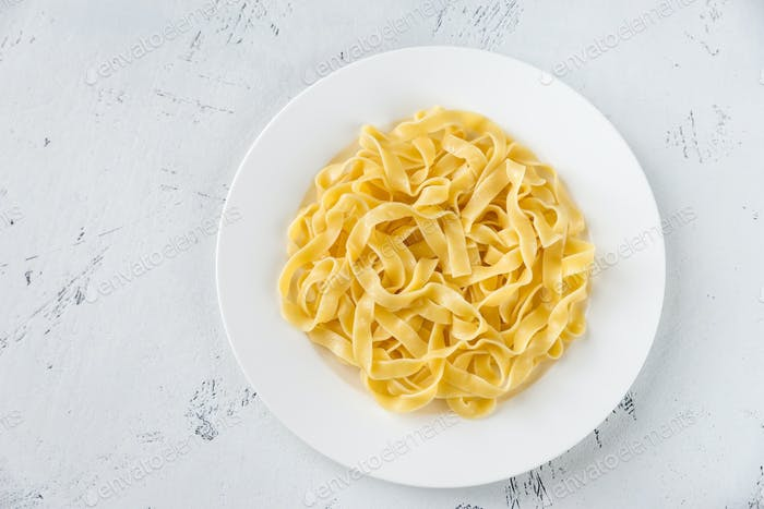 Portion of fettuccine