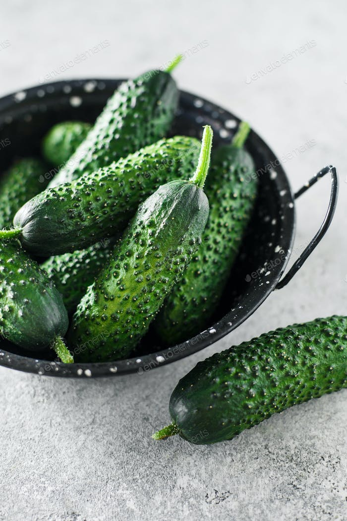 Raw organic cucumbers