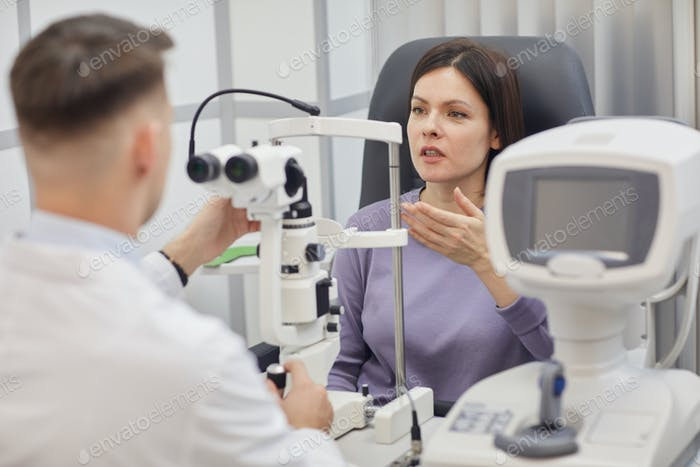 Young Woman Visiting Opthalmologist