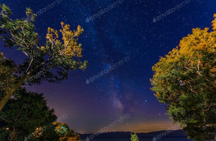 Starry Sky Over Adriatic Sea