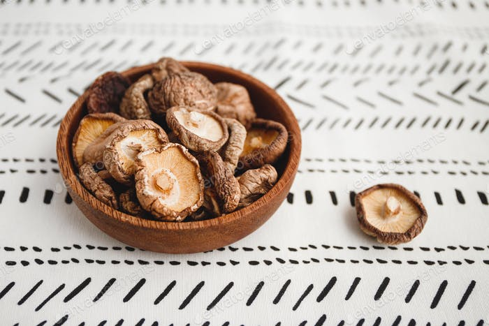 Chinese dried mushrooms Shiitake