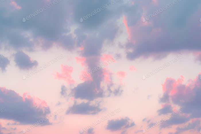Vibrant pastel sky background