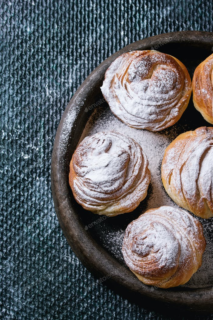 Modern pastries cruffins