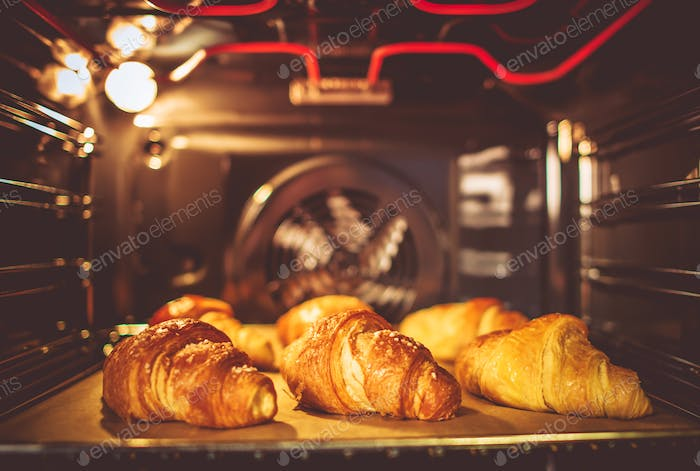 Baking Buttery Croissants