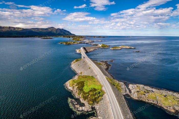Atlantic Ocean Road Luftaufnahmen.