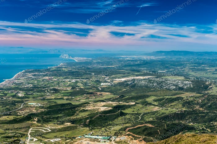 The Strait of Gibraltar from Sierra Bermeja