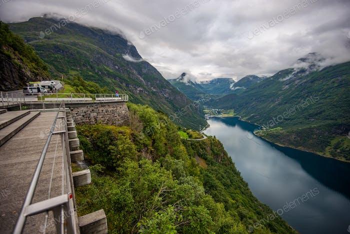 Der Weg nach Geiranger Norwegen
