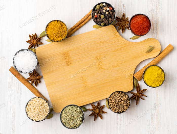 Various Indian spices