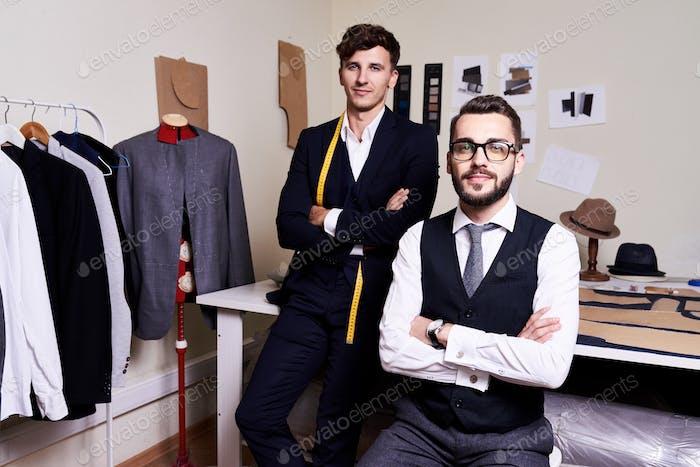 Handsome Tailors  in Modern Atelier