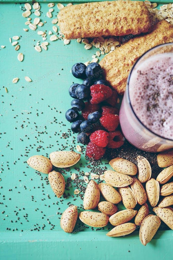 Healthy berries smoothie