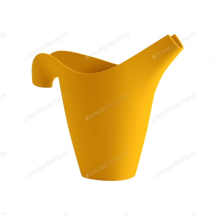Plastic Watering Can Isolated on White