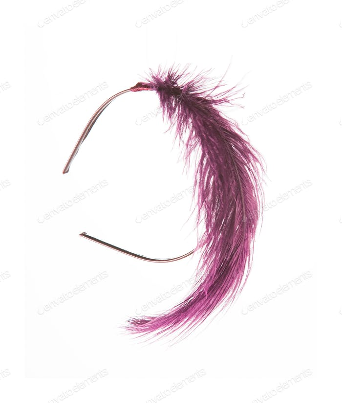 Purple feather diadem