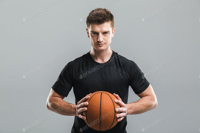Portrait of a motivated young sportsman