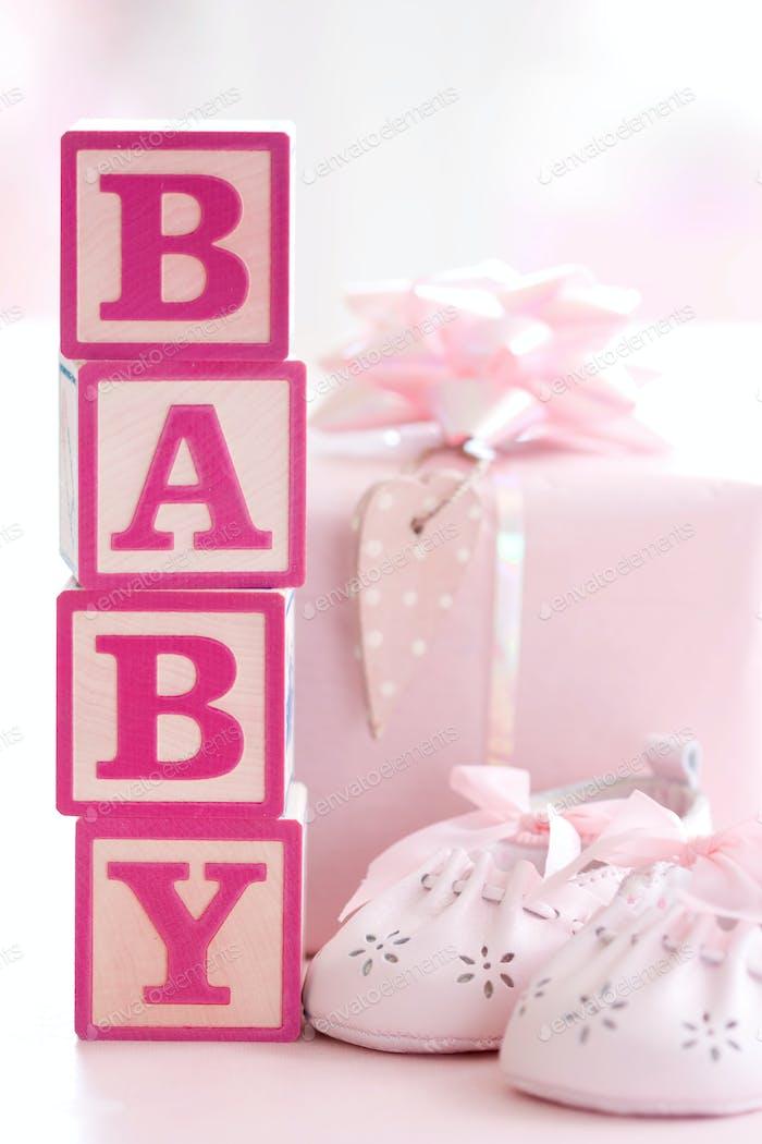 Rosa Baby Bausteine