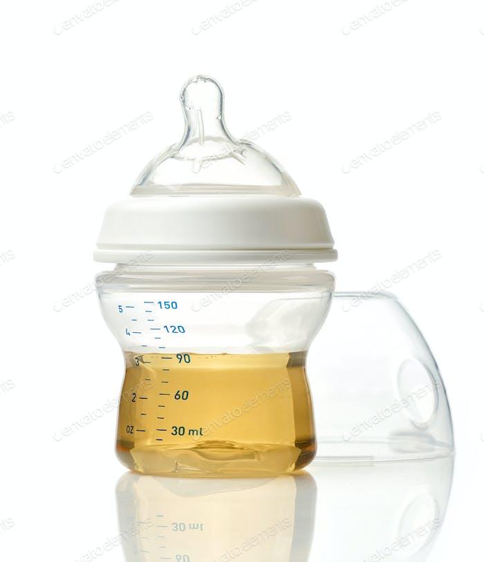 Juice in baby bottle
