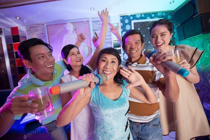 Fun in karaoke