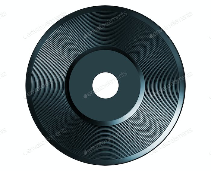 retro vinyl audio record isolated