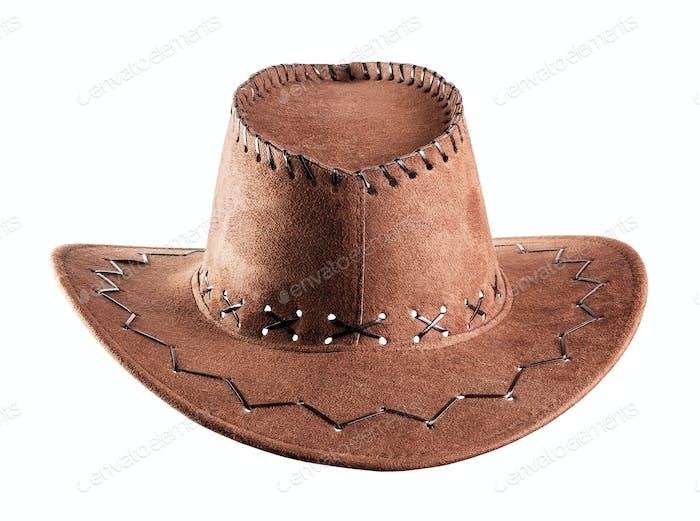 Braune Cowboy-Mütze