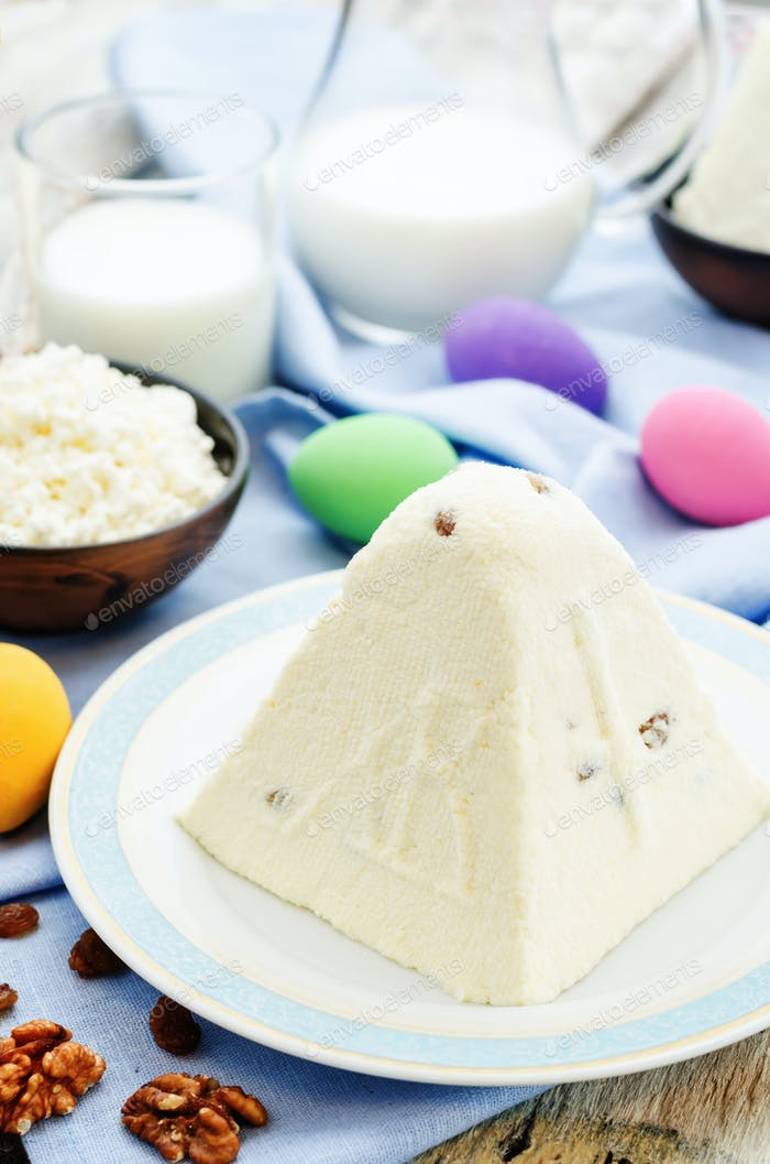 """Traditional Easter cottage cheese dessert """"Easter"""""""