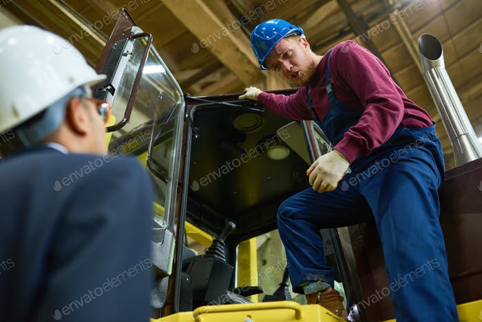Tractor Driver at Plant
