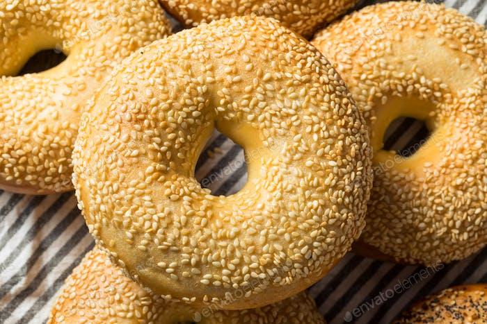 Homemade Sesame Seed Bagels