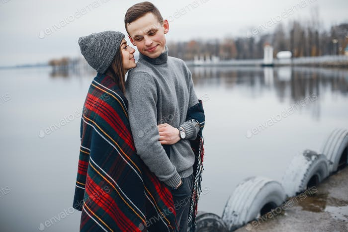 couple near water