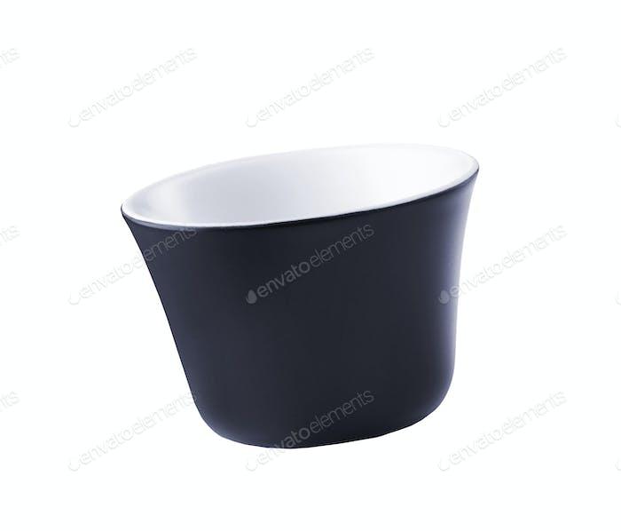 Dark blue pot isolated on white