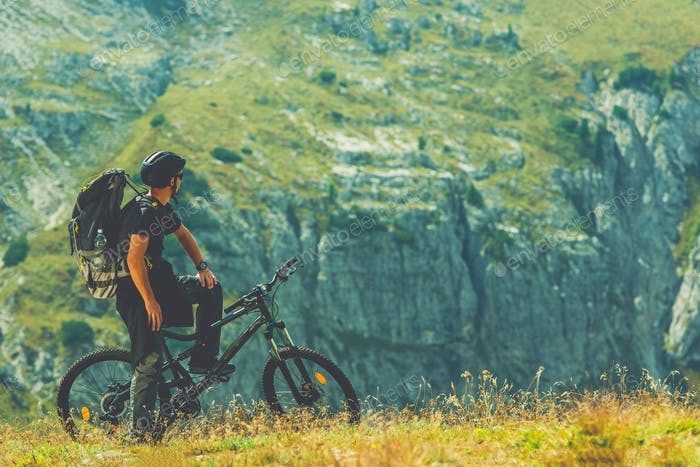 Biker on the Mountain Biking Trail