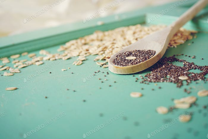 Vintage background of grains and seeds