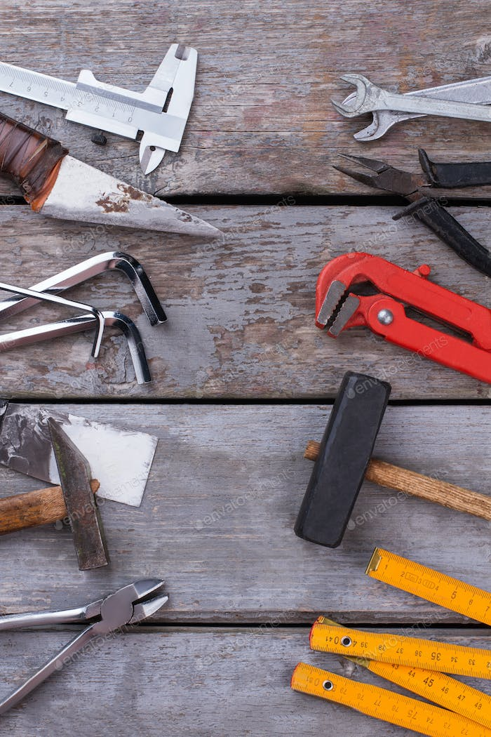 Set of tools for repair and building.