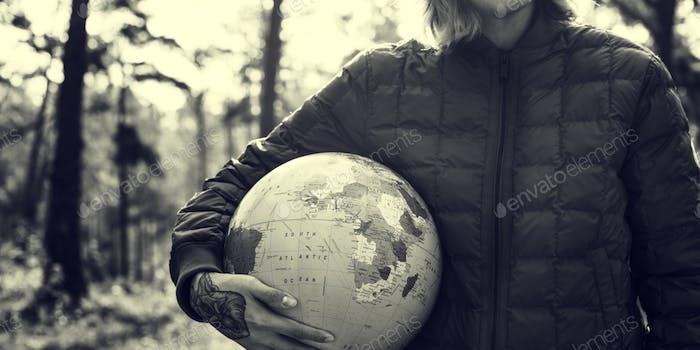 Globe Global Sphere Welt Kartographie Erdkonzept