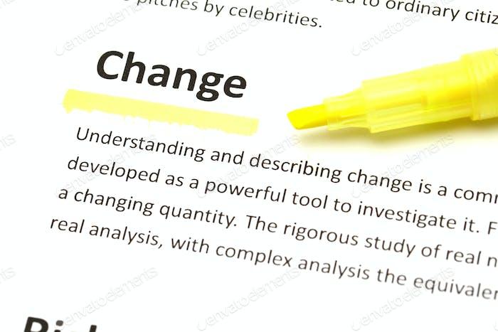 Englische Bedeutung von Veränderung