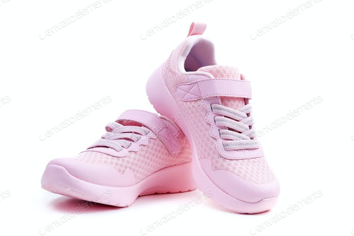 Unbranded pink running shoes on a white background