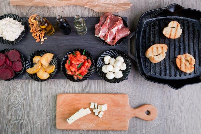 Bruschetta Ingredients for preparation