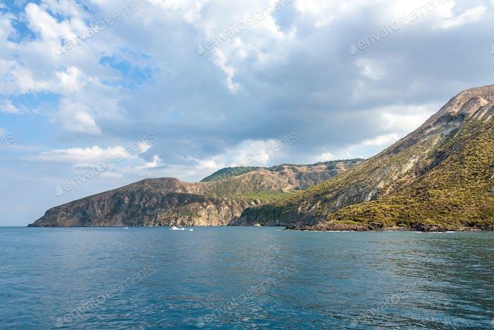 View of Vulcano Island