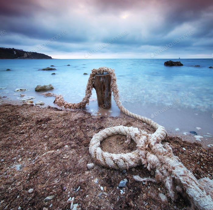 Rope on sea