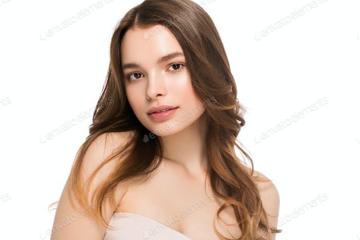 Junge Frau sauber gesunde Schönheit Haut natürliche Make-up